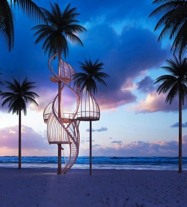 tropical treehouse pic