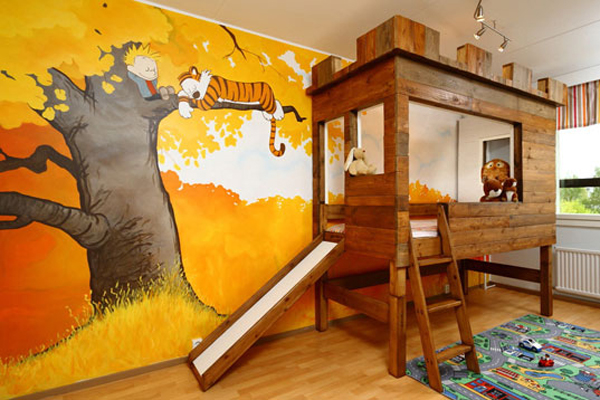 Calvin and hobbes treehouse hometreehome for Calvin and hobbes nursery mural