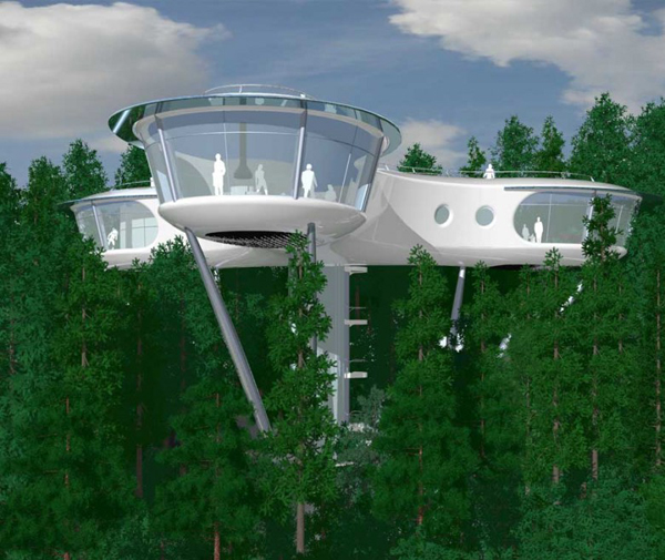modular treehouse pic - Most Expensive Tree House In The World